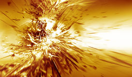 Explosion. Abstract design that suggest and explosion Stock Images