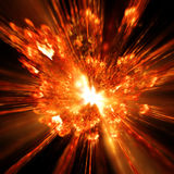 Explosion. An illustration of a hot firework explosion Stock Photo