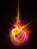 Explosion abstract illustration. Digital generated this image Stock Image