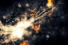 Explosion abstraction. Royalty Free Stock Images