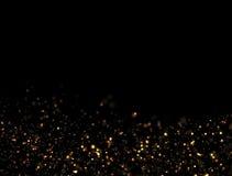 Explosion abstraite de scintillement d'or Photographie stock libre de droits