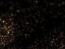 Explosion abstraite de scintillement d'or Photos stock