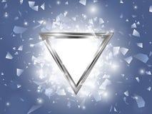 Explosion abstraite de vecteur avec le cadre de triangle illustration stock
