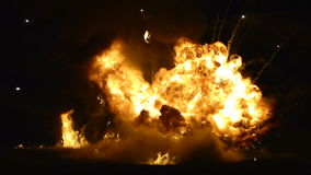 Explosion. From an airshow, taken at Chartwell house royalty free stock images