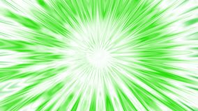 Explosion.  Animation of abstract light tunnel. Fractal motion background with streaks of green and white light. Bright star animation. Quick action. Winter stock footage