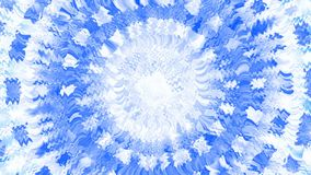 Explosion.  Animation of abstract light tunnel. Fractal motion background with streaks of blue and white light. Bright star animation. Quick action. Winter stock video