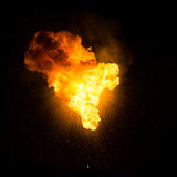 Explosion ardente réaliste Images libres de droits