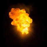 Explosion ardente réaliste Photo stock