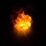 Explosion ardente réaliste Photo libre de droits