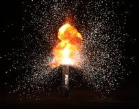 Explosion auf dem schwarzen Hintergrund Lizenzfreie Stockbilder