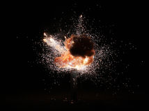 Explosion auf dem schwarzen Hintergrund Lizenzfreies Stockfoto