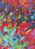 Explosion av färger som fyrverkerier Royaltyfri Foto