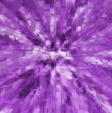 Explosion av purpura fyrkanter Royaltyfria Bilder