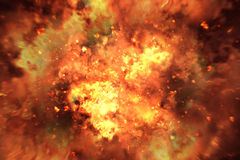 Explosion background Stock Photography
