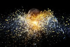 Explosion of ball Royalty Free Stock Photo