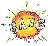 Explosion Bang Cartoon Royalty Free Stock Photography