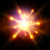 Explosion / Big Bang. On the black background Royalty Free Stock Photos