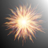 Explosion, big bang, fire burst. EPS 10. Vector file included Stock Images