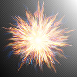 Explosion, big bang, fire burst. EPS 10 Royalty Free Stock Photos