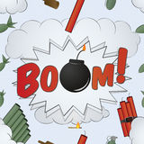 Explosion Big Bang Pattern - cartoon Royalty Free Stock Photos