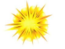 Explosion, blast  symbol element vector illustration Royalty Free Stock Photography
