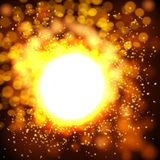 Explosion bokeh gold background . Vector illustration Stock Photography