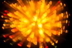 Explosion of bokeh heart blur Stock Photography