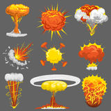 Explosion boom effect vector set. royalty free illustration