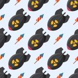 Explosion brûlante de détonation de modèle de grenade d'illustration de vecteur de fusible de dynamite de bombe d'attaque de boul Photographie stock libre de droits