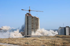 Explosion of building. Explosion demolishing a city building Royalty Free Stock Photography