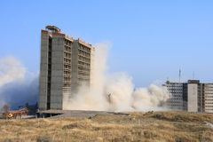 Explosion of building. Explosion demolishing a city building Stock Images