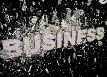 Explosion of business Royalty Free Stock Photo