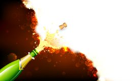 Explosion of Champagne Bottle Royalty Free Stock Images