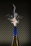 Explosion of champagne bottle cork Royalty Free Stock Photos