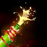 Explosion of Champagne Bottle Cork Stock Photo