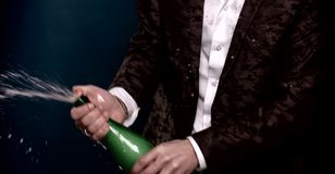 Explosion of champagne stock video footage