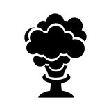 Explosion chemical isolated icon Royalty Free Stock Photos