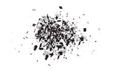 Explosion cloud of black pieces.  illustration. Explosion cloud of black pieces.  illustration Stock Image