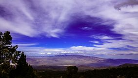 Dramatic Sky in Nevada. Muntain area. Royalty Free Stock Images