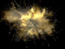 Explosion colorée avec des étincelles illustration stock