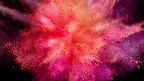 Explosion colorée de poudre clips vidéos