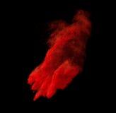 Explosion colorée de poudre d'isolement sur le fond noir Photos libres de droits
