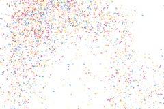 Explosion colorée des confettis Vecteur grenu coloré de texture Images libres de droits