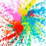 Explosion colorée pour des bannières de conception, des invitations et des cartes de voeux Éclat de couleur sur le fond blanc Rés illustration de vecteur