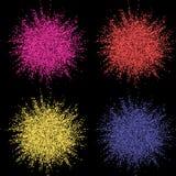 Explosion colorée pour des bannières de conception, des invitations et des cartes de voeux Éclat de couleur sur le fond foncé Rés illustration stock