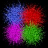 Explosion colorée pour des bannières de conception, des invitations et des cartes de voeux Éclat de couleur sur le fond foncé Rés illustration de vecteur