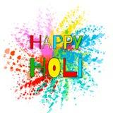 Explosion colorée pour Holi heureux Illustration de fond heureux coloré abstrait de Holi Festival indien de couleurs illustration de vecteur