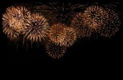 Explosion color?e de feux d'artifice dans le festival annuel image stock