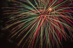 An explosion a colorful fireworks on Independence Day. Colorful explosion of fireworks in the sky on Independence Day Stock Photo