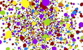Explosion of colorfull confetti isolated on white Royalty Free Stock Photos